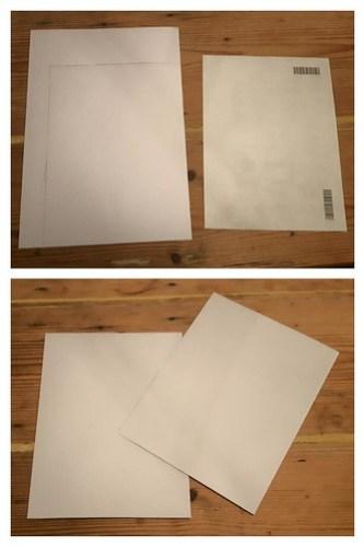 Framed lists - backing card