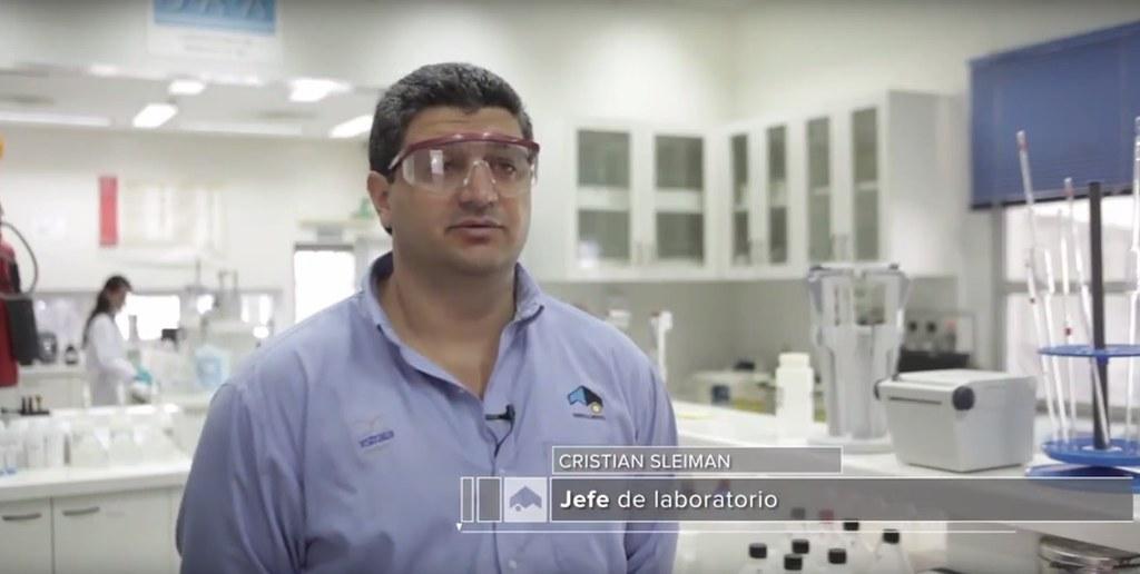Cristian Sleiman Jefe de laboratorio Planta de Filtros