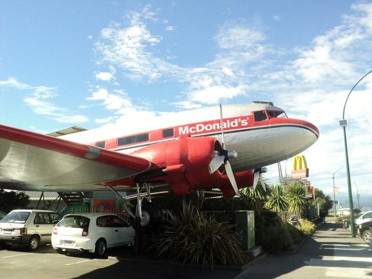 McDonalds plane, Taupo, New Zealand - the tea break project solo female travel blog