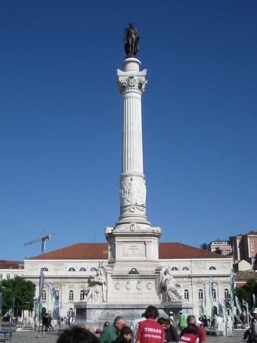 Estatua de D. Pedro IV en la Plaza del Rossio. ViajerosAlBlog.com.