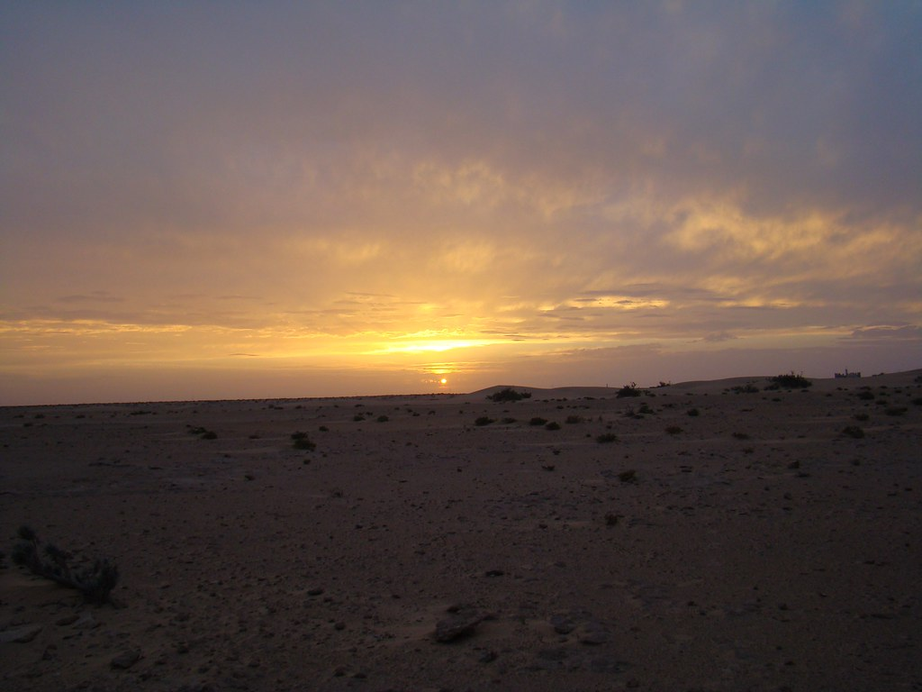 Atardecer en el desierto del Sahara 1