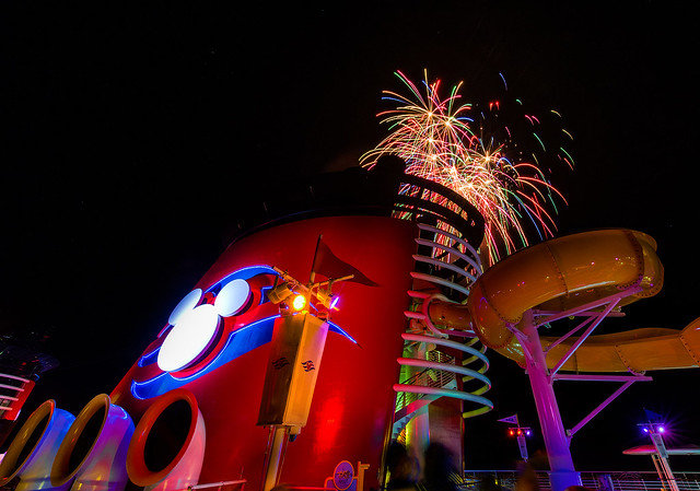 Fireworks Aboard The Disney Magic
