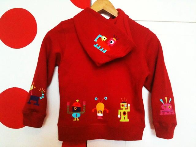 hoodie met robots