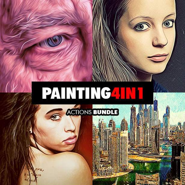 Mix Oil Painting Photoshop Action - 129