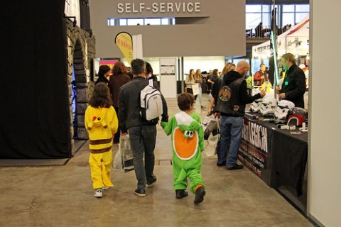Kids at MCM Comic Con Belgium