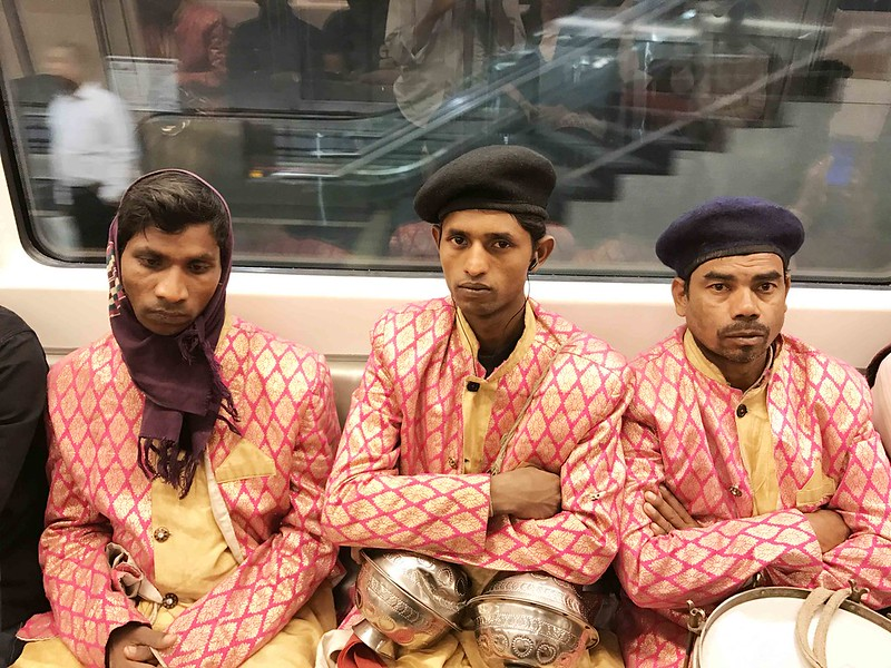 City Moment - The Overworked Music Men of the Yellow Line, Rajiv Chow Metro Station