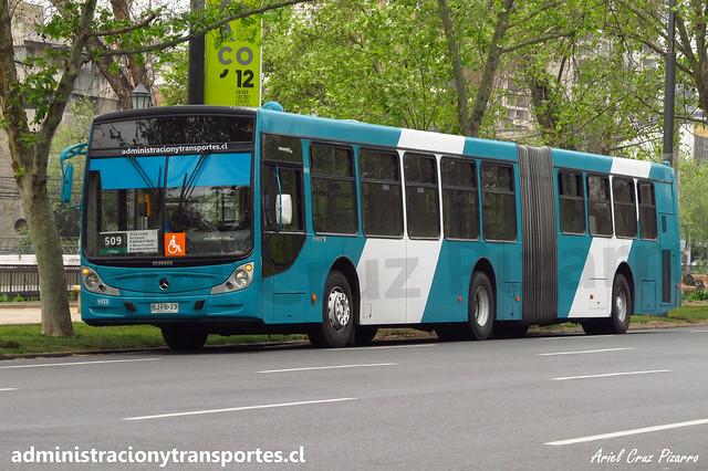 Transantiago 509 | Metbus | Caio Mondego HA - Mercedes Benz O500UA / BJFB33
