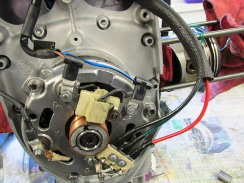 Alternator Cover with New Wiring Connected
