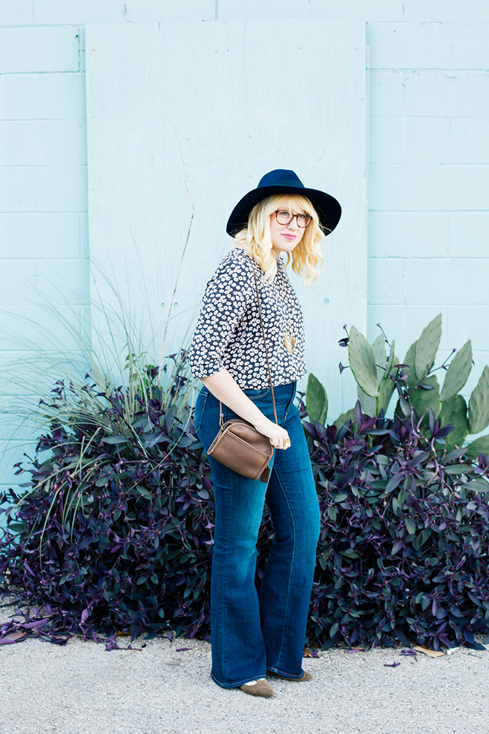 writes like a girl old navy bell bottoms navy brixton hat2