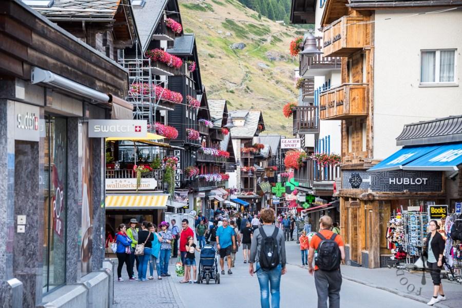 Along the main street in Zermatt