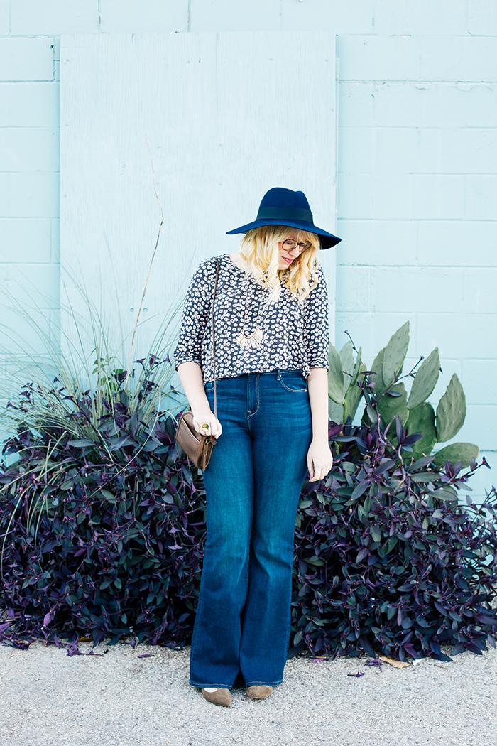 writes like a girl old navy bell bottoms navy brixton hat3