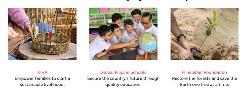 Globe of Good community beneficiaries