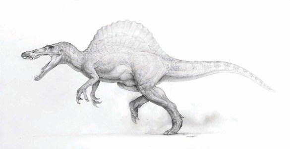 18 Dinosaur Concept Art by Mark 'Crash' McCreery - Spinosaurus