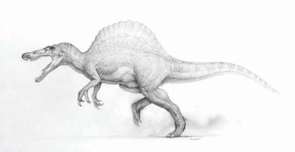 18 Dinosaur Concept Art by Mark 'Crash' McCreery - Spinosaurus