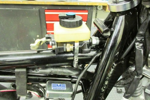Master Cylinder Installed on Frame Tube