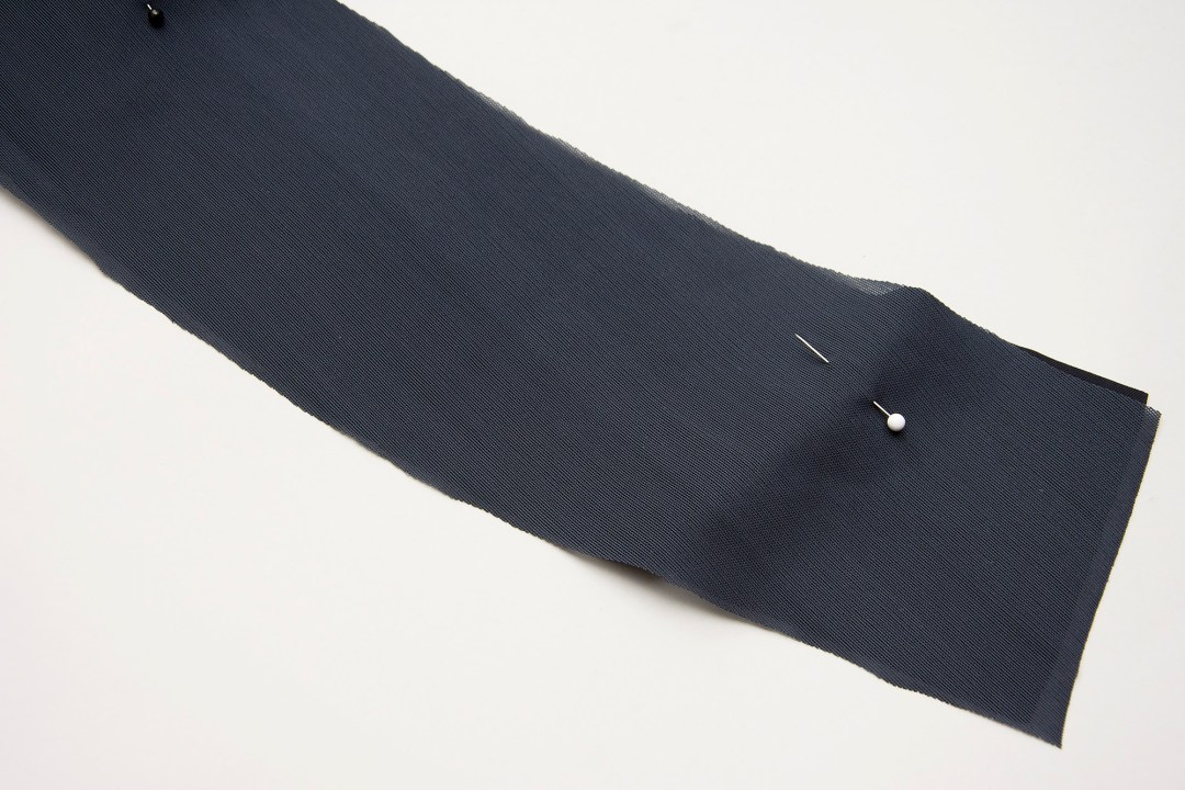 Making a waistband with body shaping power mesh