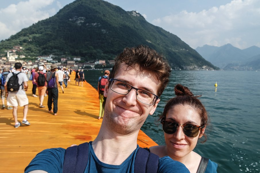 Viaggiascrittori a The Floating Piers