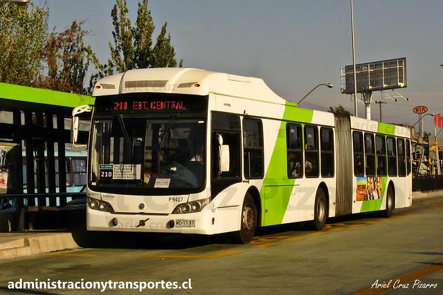 Transantiago - 210 | Subus Chile | Caio Mondego LA - Volvo B9 SALF / WC1137 - 9417