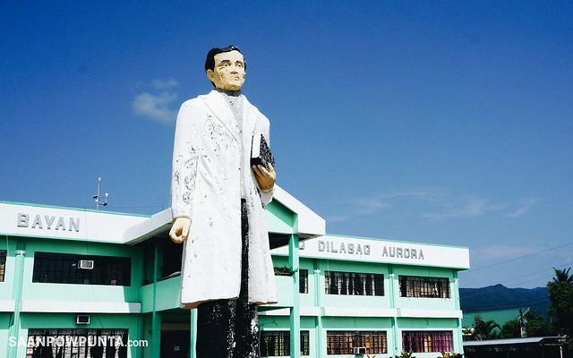 Rizal Statue at Dilasag Municipal Hall