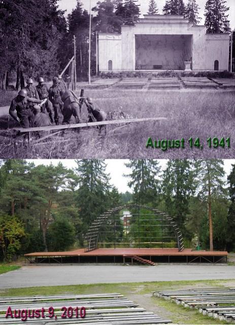 14 августа 1941 наши парни дают праздничный концерт русским из парка Ваккосалми - 2010 dates