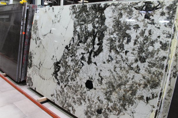 Alpine White Granite Slab