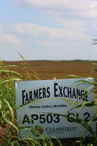 Farmer's Exchange sign.