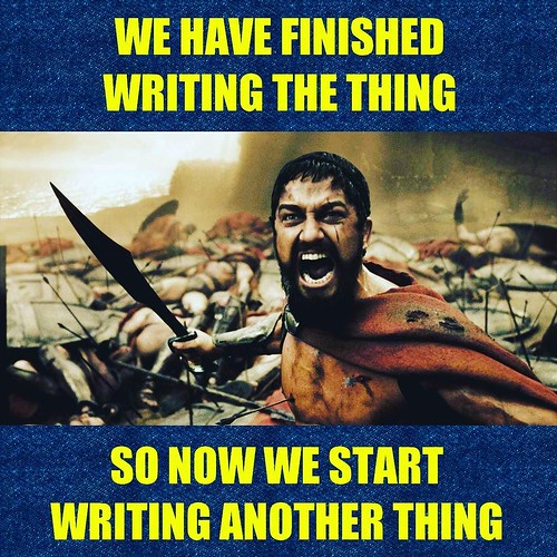 Onward and upward! Zap! Pow! #AmWriting