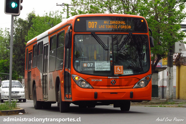 Transantiago D07 | Express | Marcopolo Gran Viale - Scania / CJRS33