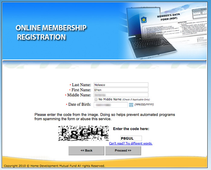 Pagibig fund online registration