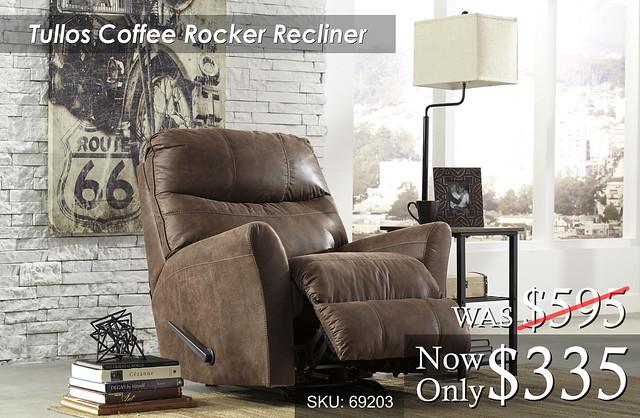 Tullos Coffee Rocker Recliner 69203
