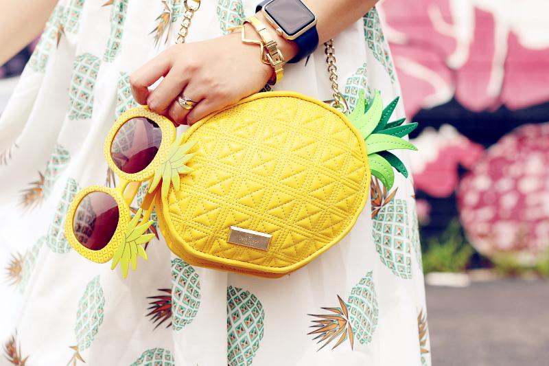 pineapple sunglasses, Kate Spade Pineapple cross body bag