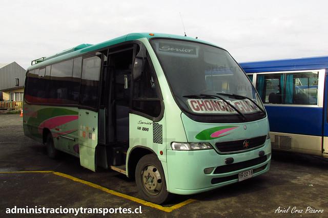 Buses Inter Lagos | Castro - Cucao | Marcopolo Senior - Mercedes Benz / YR2218