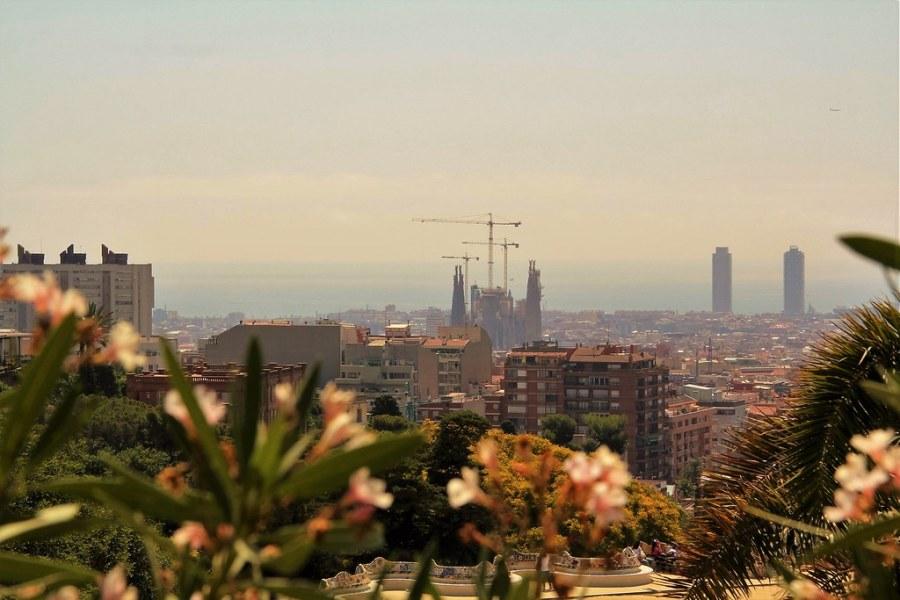 vue barcelone depuis parc guell