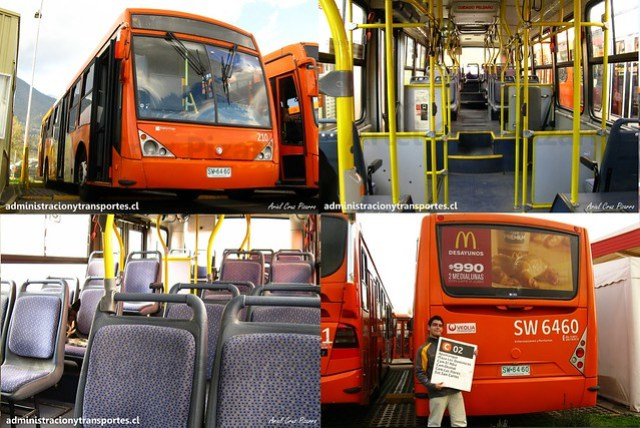 Transantiago | Redbus | Caio Millenium - Mercedes Benz O500U / SW6460 - 210