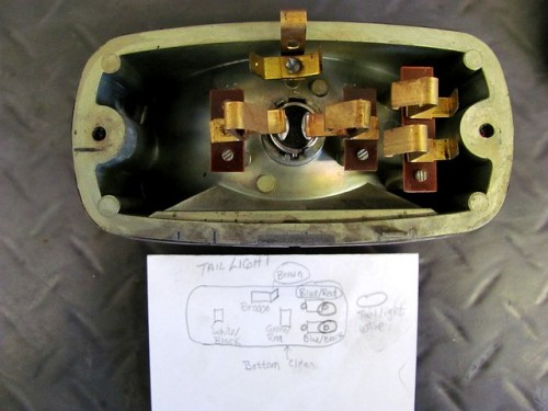 Rear of Tail Lighe With Wiring Diagram