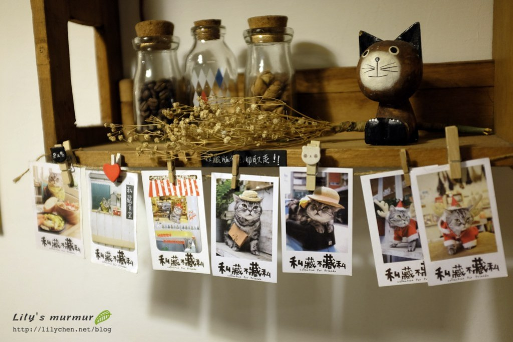 牆上擺飾,這些都是可愛又萌萌噠店貓照片唷!