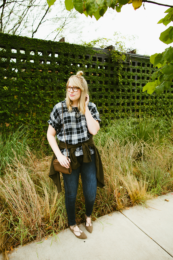 writes like a girl madewell emporia plaid shirt fall outfit3