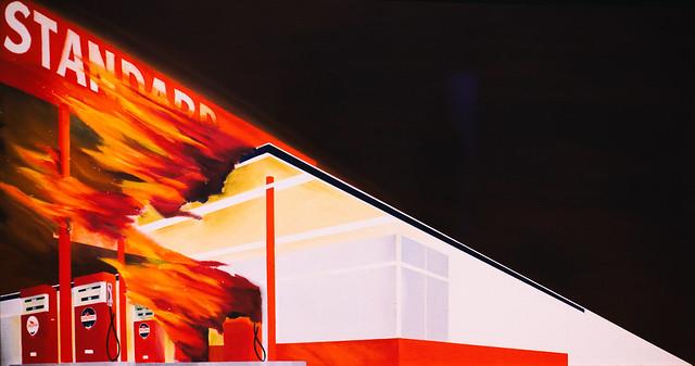 Burning Gas Station