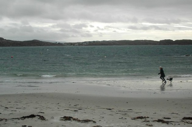 Iona in a storm