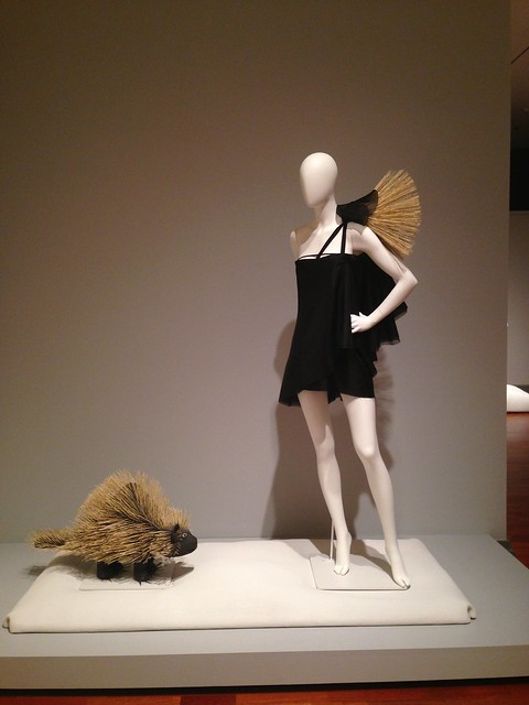 Jean Yu dress with David Alvarez porcupine