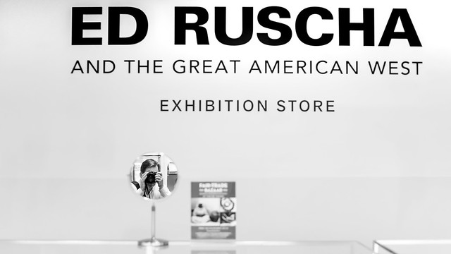 Ed Ruscha and the Great American West Exhibition Store