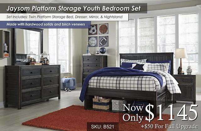 Jaysom Platform Storage Youth Bed Set B521