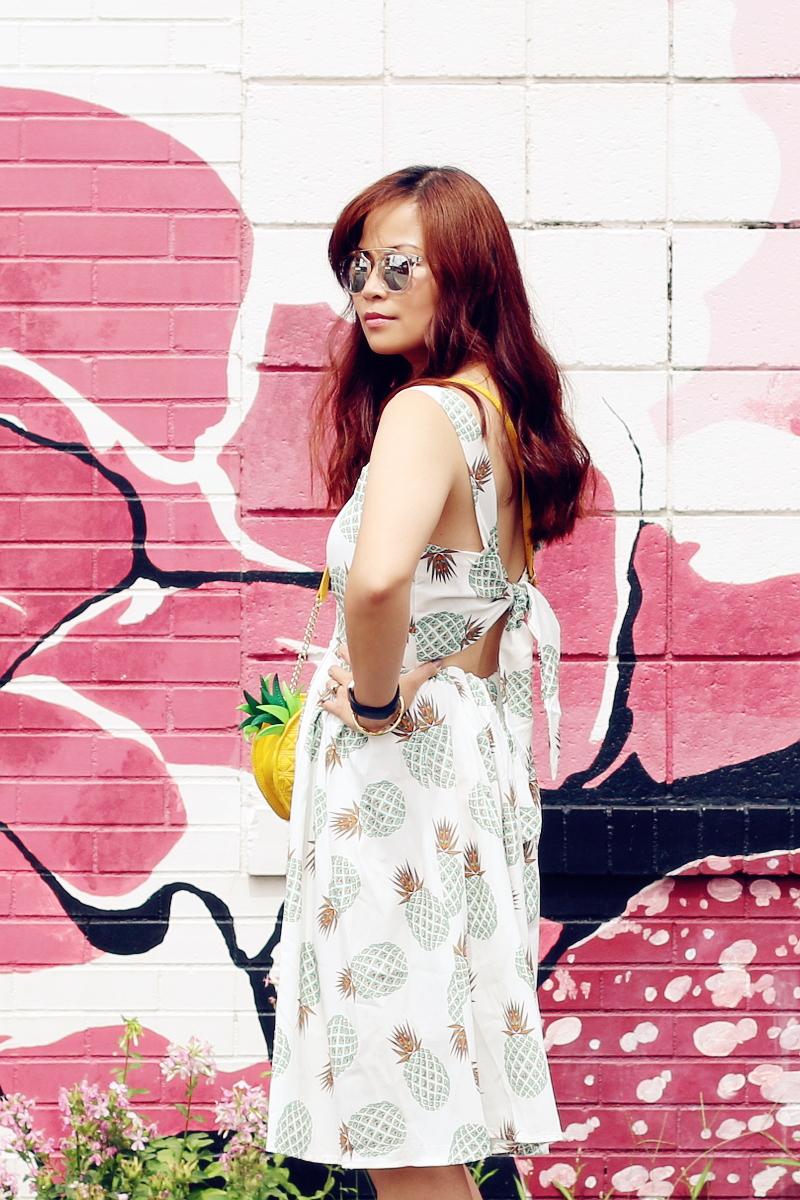 zaful-pineapple-print-dress-tie-back-5