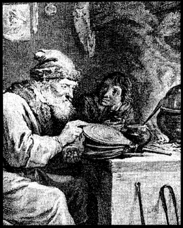 Alchemist and neophyte pray and work.