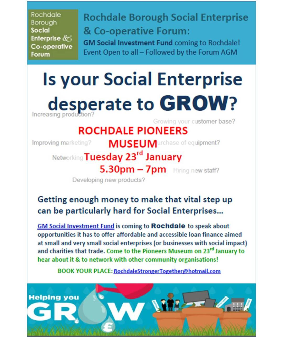 GM Social Investment Fund Event - ROCHDALE - 23 Jan 2018