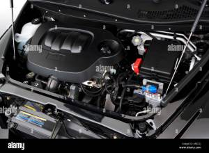 2006 Chevrolet HHR 2LT in Black  Engine Stock Photo