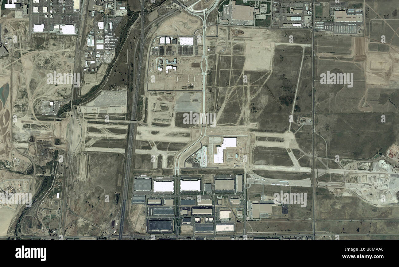 Aerial Map Abandoned Stapleton Airport Denver Colorado