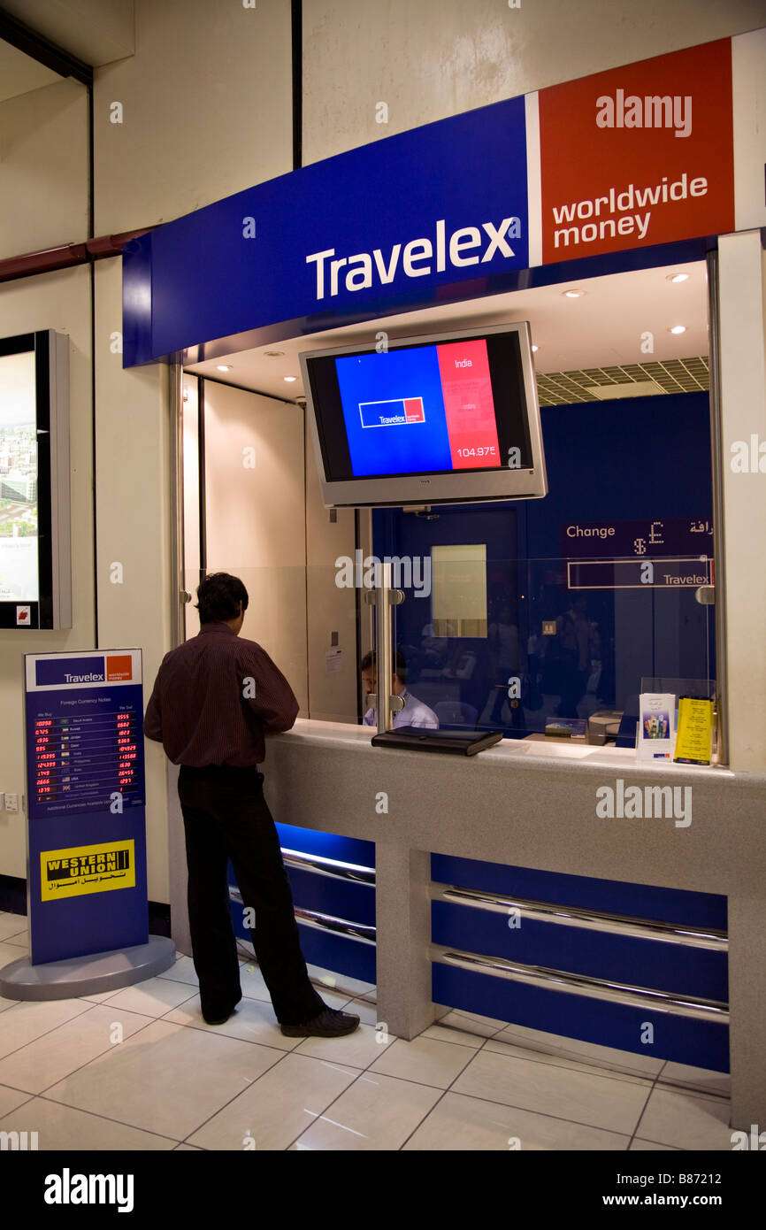 bureau de change operated by travelex within bahrain airport