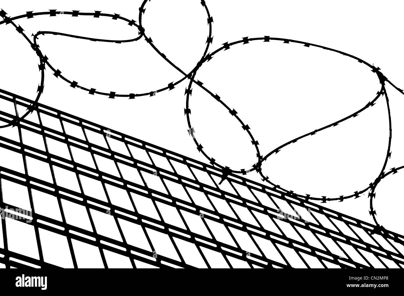 Security fence stock image