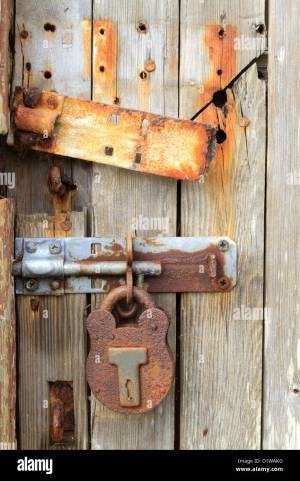 Rusty ancient door lock (close up view Stock Photo, Royalty Free Image: 52802948  Alamy